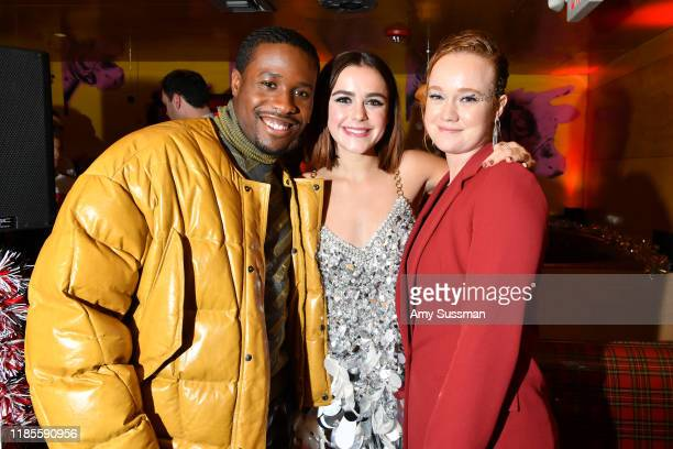 Shameik Moore Kiernan Shipka and Liv Hewson attend the after party for Netflix's Let It Snow at Swingers on November 04 2019 in Los Angeles California