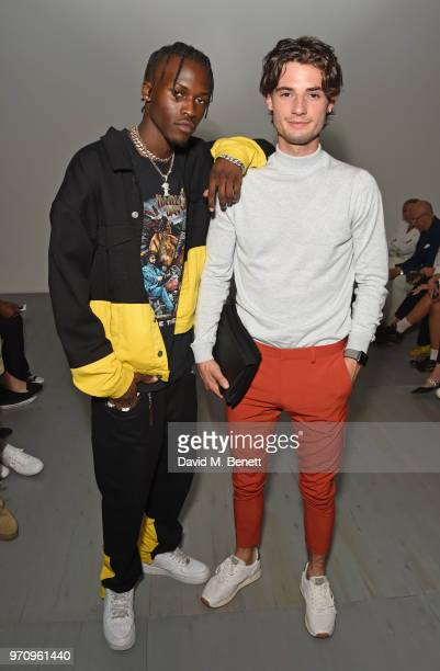 Shamel Kendrick and Jack Brett Anderson attend the Alex Mullins show during London Fashion Week Men's June 2018 at the BFC Show Space on June 10 2018...