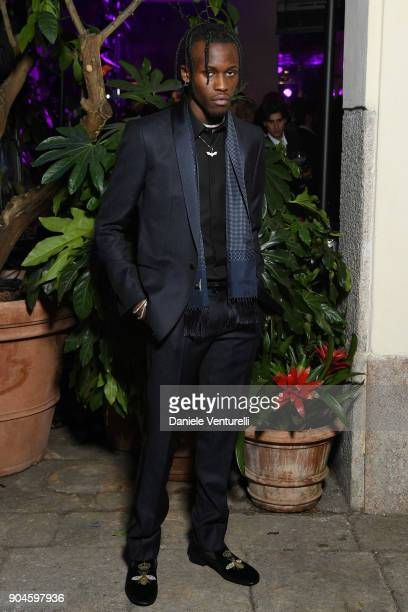 Shamel Kendrick attends the Dolce Gabbana Unexpected Show during Milan Men's Fashion Week Fall/Winter 2018/19 on January 13 2018 in Milan Italy