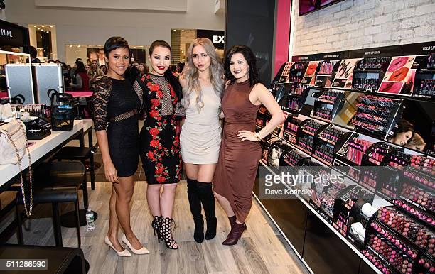 Shameless Maya Amanda Ensing Amy Pham and CiaooBelllaxo attend the NYX Professional Makeup Store Willowbrook Grand Opening Ribbon Cutting on February...