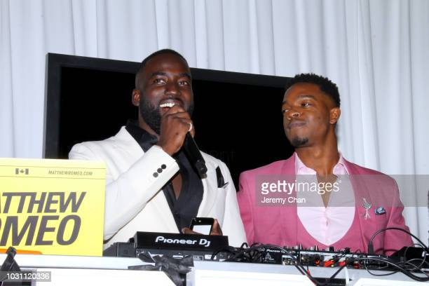 Shamier Anderson and Stephan James attend Stephan James And Shamier Anderson Host Third Annual BLACK Ball at TIFF Bell Lightbox on September 10 2018...