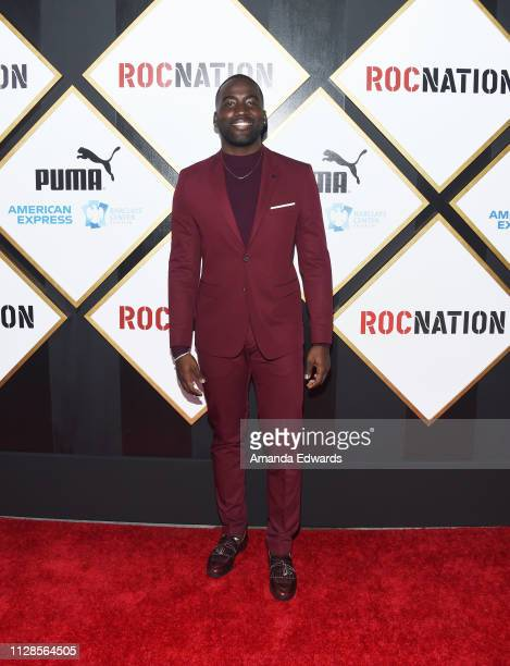 Shamier Anderson arrives at the 2019 Roc Nation THE BRUNCH on February 09 2019 in Los Angeles California