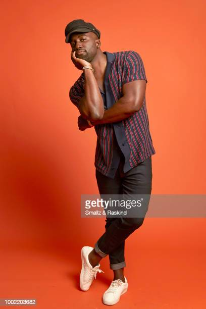 Shamier Anderson from Syfy's 'Wynonna Earp' poses for a portrait in the Getty Images Portrait Studio powered by Pizza Hut at San Diego 2018 Comic Con...