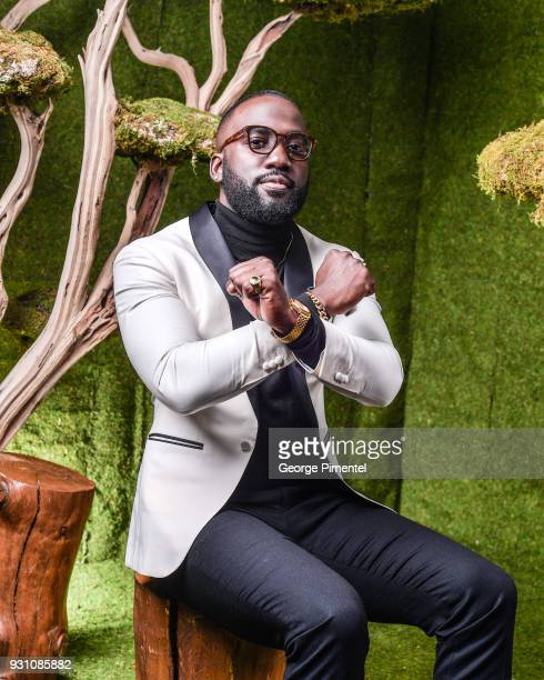 Shamier Anderson poses in the 2018 Canadian Screen Awards Broadcast Gala Portrait Studio at Sony Centre for the Performing Arts on March 11 2018 in...