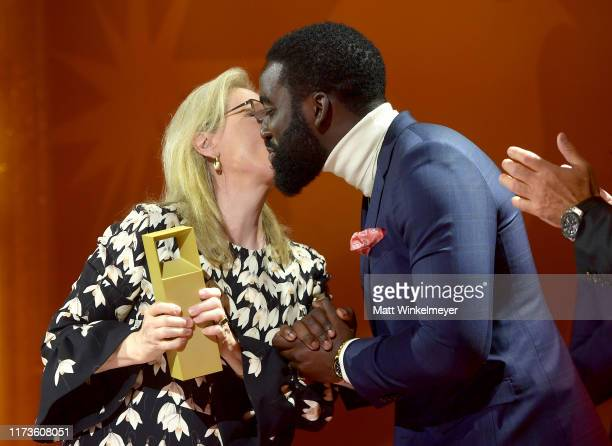 Shamier Anderson presents the TIFF Tribute Actor Award to Meryl Streep during the 2019 Toronto International Film Festival TIFF Tribute Gala at The...