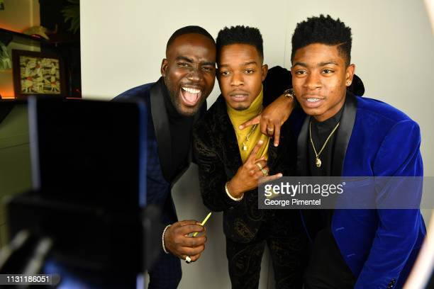 Shamier Anderson Stephan James and RJ Cyler have their photos taken in the Samsung Galaxy Note9 Photo Booth at The Annual Black Ball powered by Cîroc...