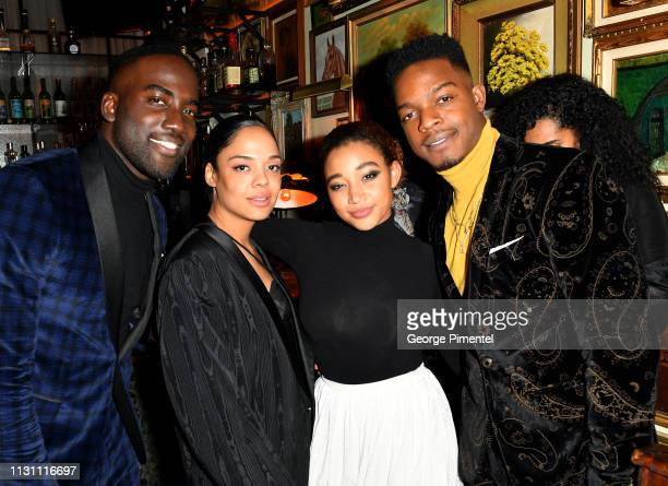 Shamier Anderson Tessa Thompson Amandla Stenberg and Stephan James attend The Annual Black Ball powered by Cîroc Black Raspberry and Don Julio on...