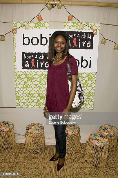 Shamika Cotton attends The bobi Clothing and Keep a Child Alive's Party for a Purpose on June 3, 2008 in New York City
