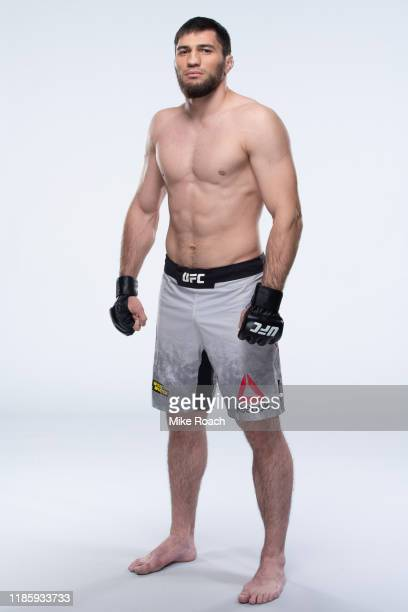 Shamil Gamzatov of Russia poses for a portrait during a UFC photo session on November 6 2019 in Moscow Russia