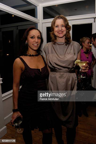 Shamim Momin and Henriette Hudlich attend Whitney Biennial Artists Party at Trata Estiatoria on March 8 2008 in New York City