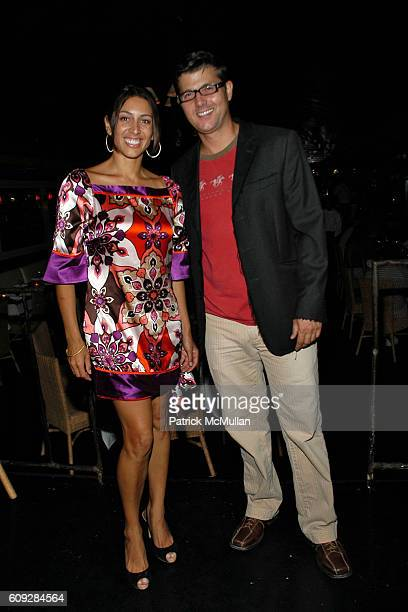 Shamin Abas and Frank Cilione attend MICHELLE MARIE Art Exhibition After Party at Le Flirt on July 27, 2007 in East Hampton, NY.