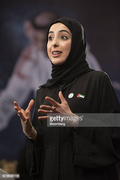 Shamma bint Suhail bin Faris Al Mazrui United Arab Emirate's minister of state for youth affairs speaks during a Bloomberg Television interview at...