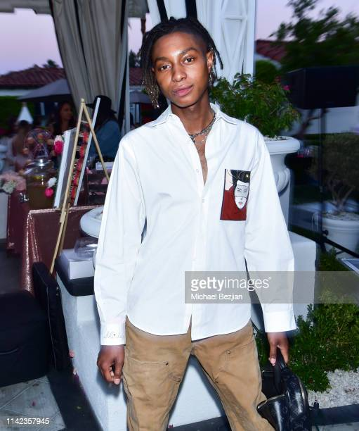 Shammari Maurice poses for portrait at beGlammed Sunset Soiree Presented by Fullscreen on April 12 2019 in Palm Springs California