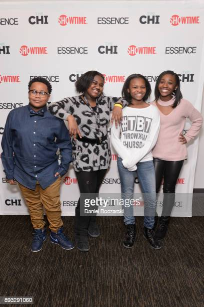 Shamon Brown Jr Mariah Gordon Morela Rina Bryant amd Genisis Hale attend an advance screening of Showtime's 'The Chi' on Chicago's South Side at SMG...