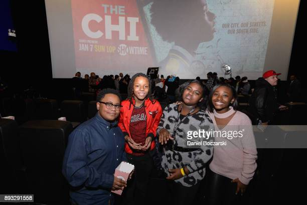 Shamon Brown Jr Michael Epps Genisis Hale and Mariah Gordon attend an advance screening of Showtime's 'The Chi' on Chicago's South Side at SMG...