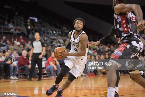 Shamorie Ponds of the Raptors 905 looks to shoot during a G League game between the Erie BayHawks and the Raptors 905 at the Erie Insurance Arena on...