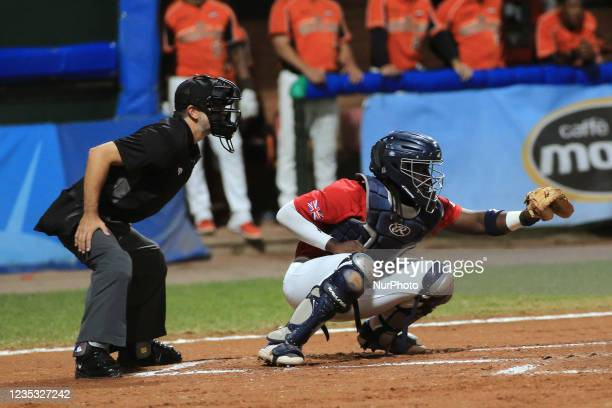 Shamoy Christopher during the Baseball match Baseball European Championship 2021 - Quarter finals - Netherlands vs Great Britain on September 16,...