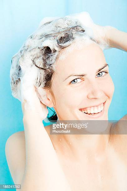 shampoo time - shampoo stock pictures, royalty-free photos & images