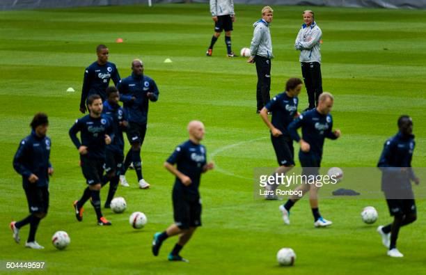 FCK Shamrock Rovers training in Parken Stadium Assistenttraener / Assistantcoach Johan Lange FCK FC Copenhagen Cheftraener / Teamcoach Roland Nilsson...