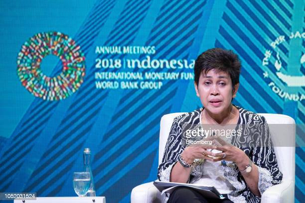 Shamsiah Mohd Yunus governor of Bank Negara Malaysia speaks at the International Monetary Fund and World Bank Group Annual Meetings in Nusa Dua Bali...