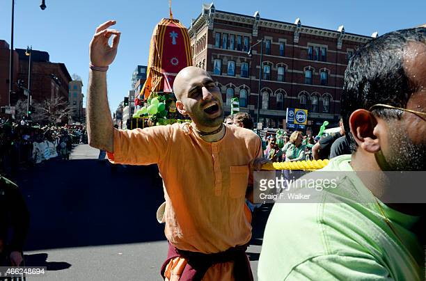 Shamya Das sings with ISKCON Denver during the Annual StPatricks day parade in Denver CO March 14 2015 More than 200000 people were expected to...
