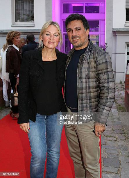 Shan and Claudia Rahimkhan attend the House Of Marcell von Berlin Grand Opening on September 9 2015 in Berlin Germany