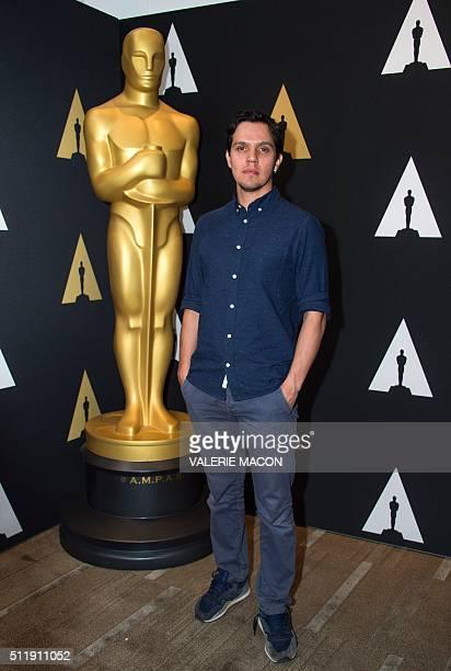 "Shan Christopher Ogilvie nominated for Short Film ""Stutterer"" attends the Oscar Week: Shorts evening, in Beverly Hills, California, on February 23,..."
