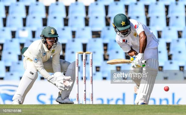 Shan Masood of Pakistan during day 2 of the 1st Castle Lager Test match between South Africa and Pakistan at SuperSport Park on December 27 2018 in...