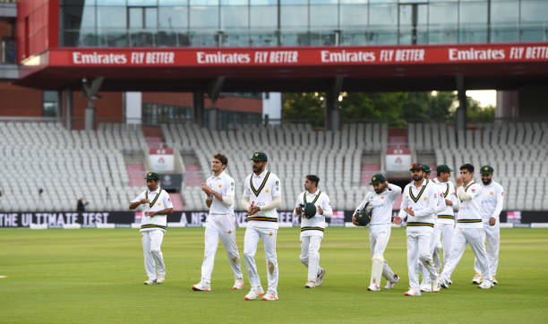 Applauded off by his teammates after Day Two of the 1st #RaiseTheBat Test Match between England and Pakistan at Emirates...