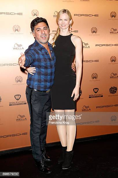 Shan Rahimkhan and Britta Steffen attend the True Berlin By Shan Rahimkhan event on September 1 2016 in Berlin Germany