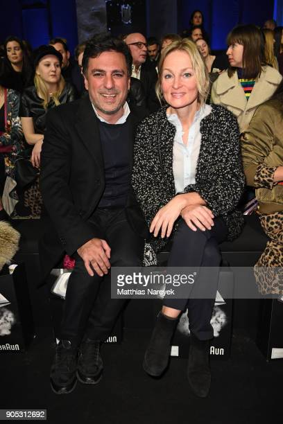 Shan Rahimkhan and wife Claudia attends the Dawid Tomaszewski show during the MBFW Berlin January 2018 at ewerk on January 15 2018 in Berlin Germany