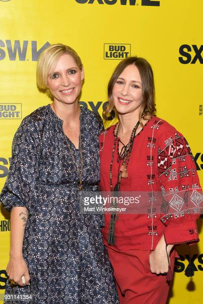 Shana Feste and Vera Farmiga attend the 'Boundaries' Premiere 2018 SXSW Conference and Festivals at Paramount Theatre on March 12 2018 in Austin Texas