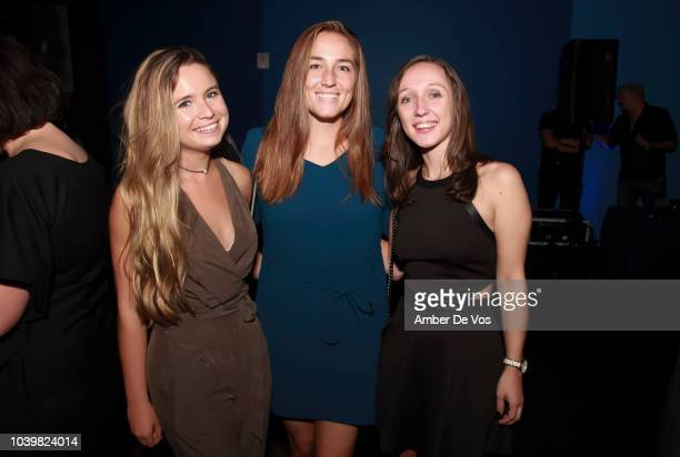 Shana Heaney Amanda Bell and Morgan Fosina attend the FIAF's Young Patrons Fall Fete at FIAF on September 24 2018 in New York City
