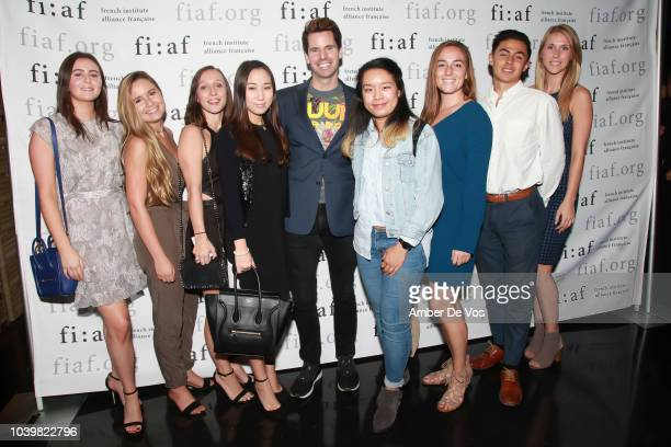 Shana Heaney Morgan Fosina Claire Lee James G Brooks Sharon Lin Amanda Bell Daniel Dryburgh and Cara Ray attend the FIAF's Young Patrons Fall Fete at...