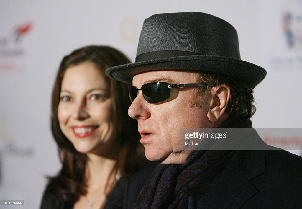 Shana Morrison and Van Morrison during US-Ireland Alliance Honor Van Morrison at 2007 Pre-Oscar Gala at The Ebell Club of Los Angeles in Los Angeles, California, United States.