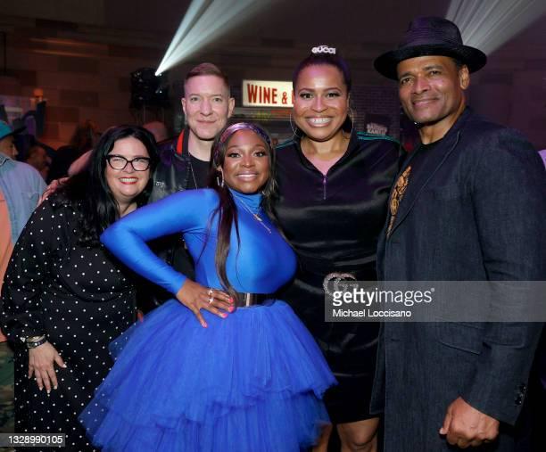 Shana Stein, Joseph Sikora, Naturi Naughton, Courtney A. Kemp and Mario Van Peebles attend 'Power Book III: Raising Kanan' global premiere event and...