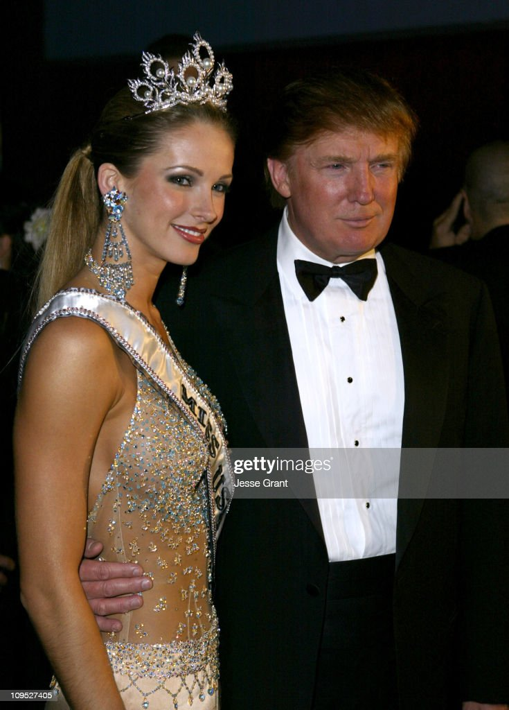 Shandi Finnessey, Miss USA 2004 and Donald Trump during The 53rd Annual Miss USA Competition - After Party at Avalon in Hollywood, California, United States.