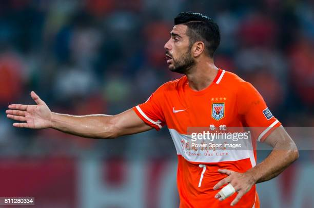 Shandong Luneng FC forward Graziano Pelle' reacts during the AFC Champions League 2016 Quarter Final 2nd leg between Shandong Luneng FC vs FC Seoul...