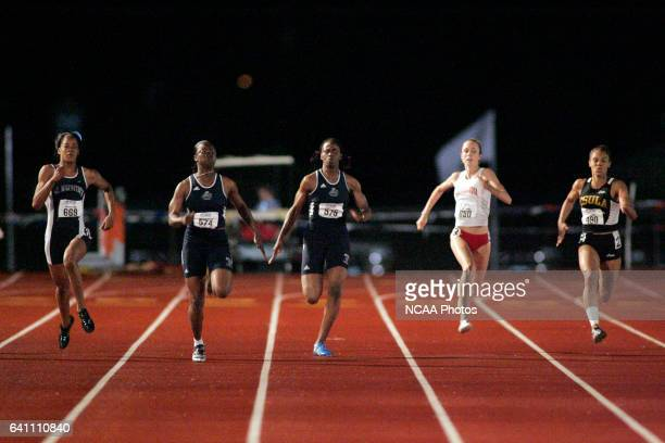 Shandria Brown of Lincoln University wins 1st place in the women's 200 meter race in a time of 2360 at the 2005 NCAA Division II Outdoor Track and...