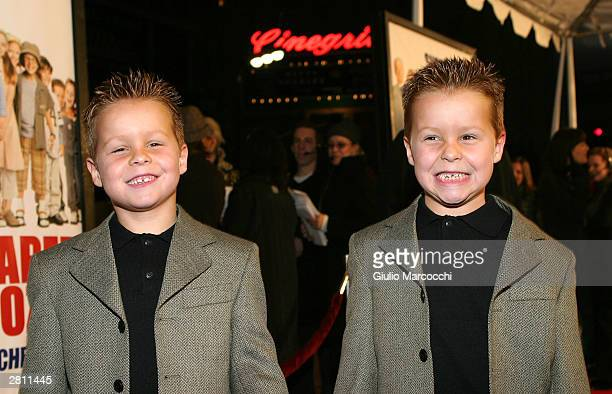 Shane and Brent Kinsman attend the Cheaper By The Dozen Premiere on December 14 2003 in Hollywood California