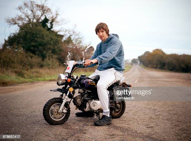 Shane Anderson on his motorised minibike works at the Midway Stop Cafe along the Haughly New Road on the 20th October 2009 In Haughly in the United...