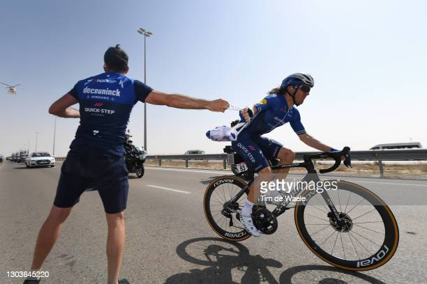 Shane Archbold of New Zealand and Team Deceuninck - Quick-Step during the 3rd UAE Tour 2021, Stage 3 a 166km stage from Al Ain - Strata Manufacturing...