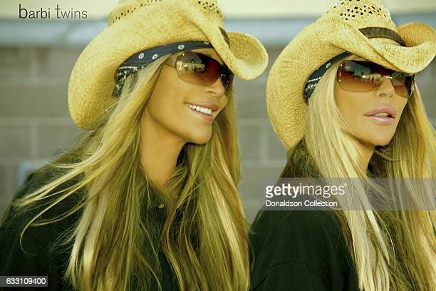 Shane Barbi and Sia Barbi of The Barbi Twins pose for a portrait in circa 2000