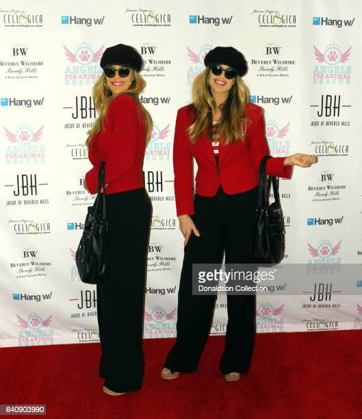 Shane Barbi and Sia Barbi of the Barbi Twins pose for a portrait session in circa 2000 in Los Angeles California