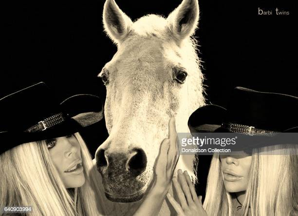 Shane Barbi and Sia Barbi of the Barbi Twins pose for a portrait session in circa 1995 in Los Angeles California