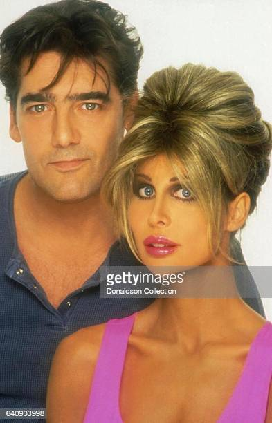 Shane Barbi of The Barbi Twins and her husband Ken Wahl pose for a portrait in circa 1997