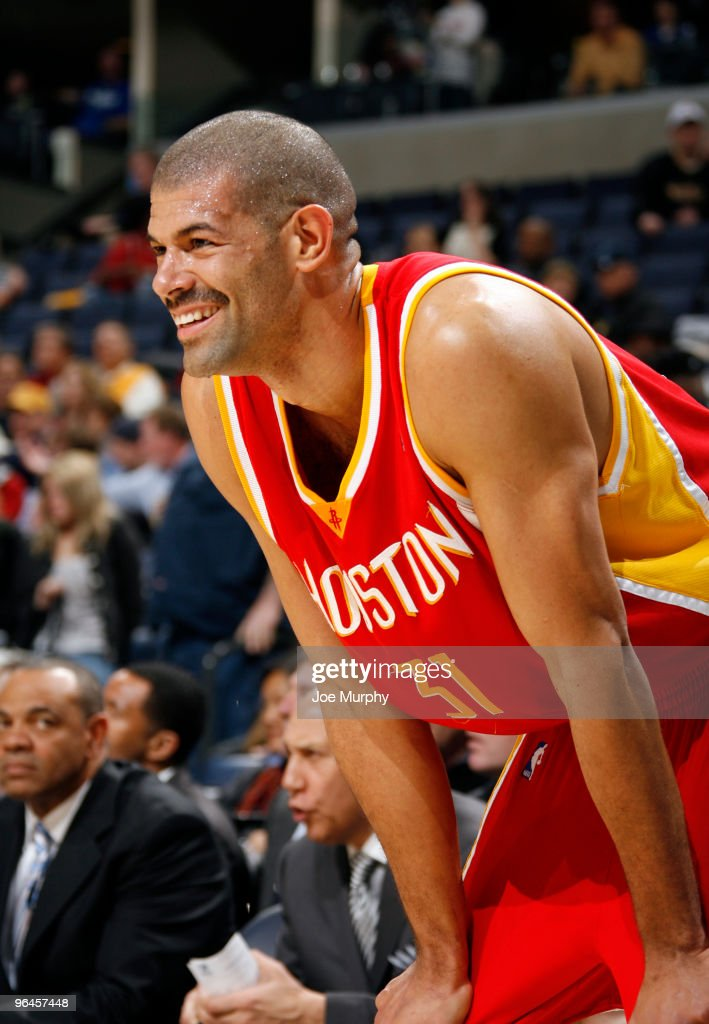 Shane Battier #31 of the Houston Rockets smiles as he shows off his new mustache against the Memphis Grizzlies on February 5, 2010 at FedExForum in Memphis, Tennessee.