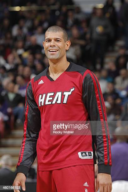 Shane Battier of the Miami Heat warms up prior to the game against the Sacramento Kings on December 27 2013 at Sleep Train Arena in Sacramento...