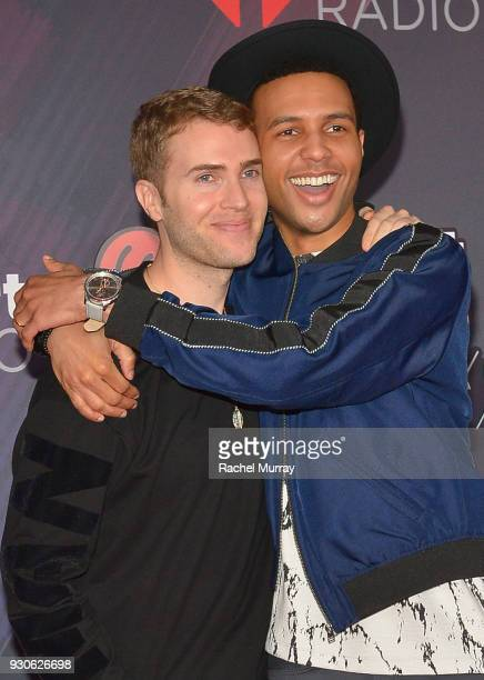 Shane Bitney Crone and Rayvon Owen arrive at the 2018 iHeartRadio Music Awards which broadcasted live on TBS TNT and truTV at The Forum on March 11...