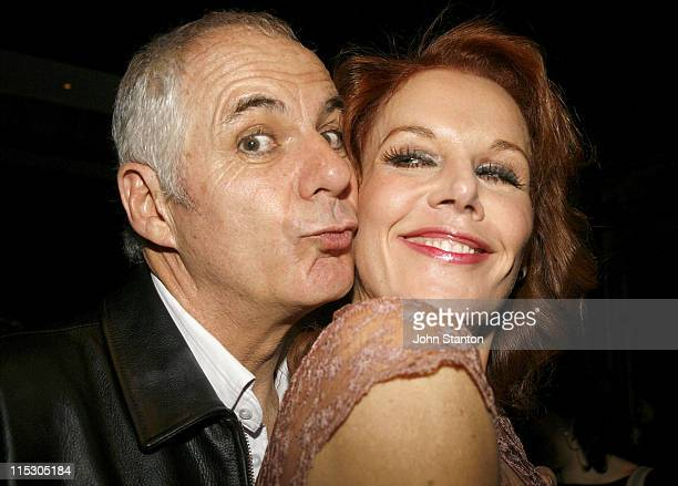 Shane Bourne and Rhonda Burchmore during Urinetown Sydney Opening Night at Sydney Theatre Company Walsh Bay in Sydney NSW Australia